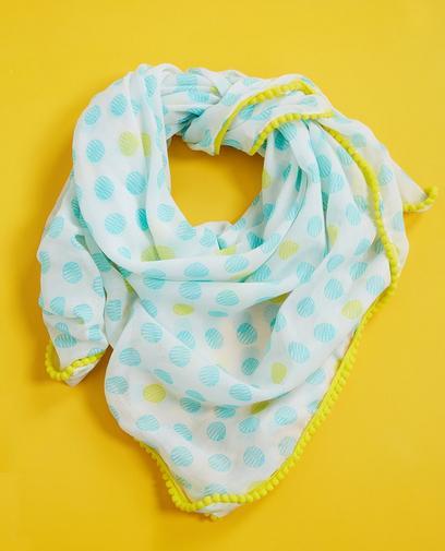 Wit-lichtblauwe sjaal